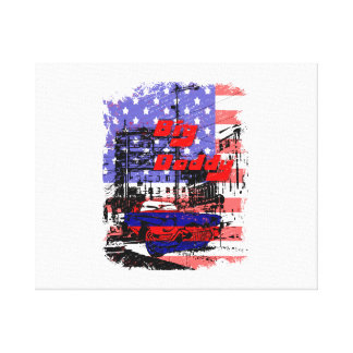 big daddy red blue affected design canvas prints