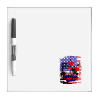 big daddy red blue affected design dry erase whiteboard