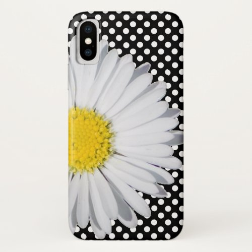 Big Daisy and Polka Dot iPhone X Case Phone Case
