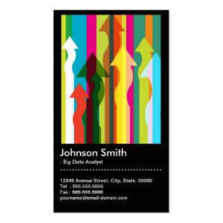 Big Data Analyst - Colorful & QR Code Business Card