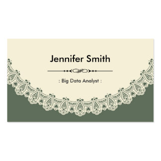 Big Data Analyst - Retro Chic Lace Business Cards