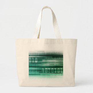 Big Data and Cloud Computing Large Tote Bag