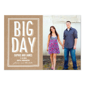 Big Day Save The Date Card