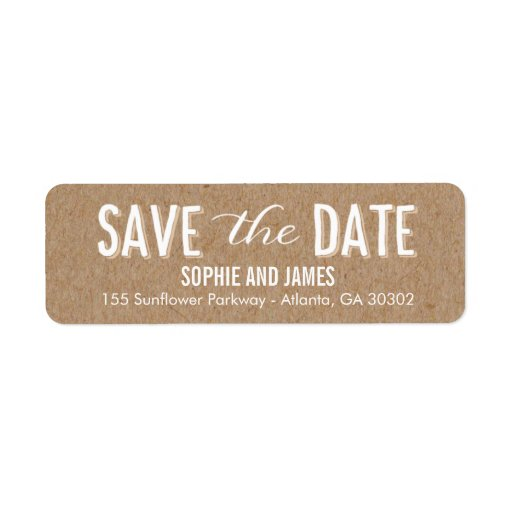 Big Day Save The Date Return Address Labels