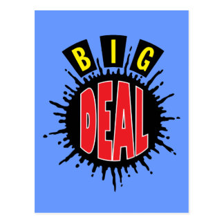 Big Deal - Sly Social Commentary Postcard