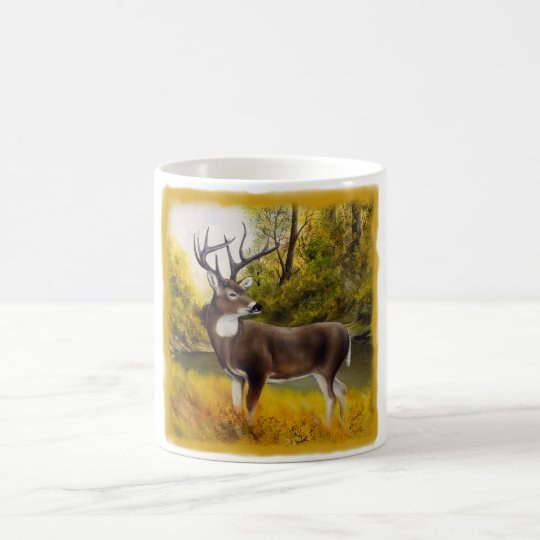 Big Deer standing in grove on customizable product Coffee Mug