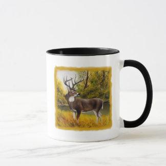 Big Deer standing in grove on customizable product Mug