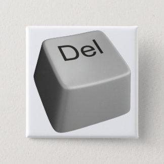 Big delete key pinback button