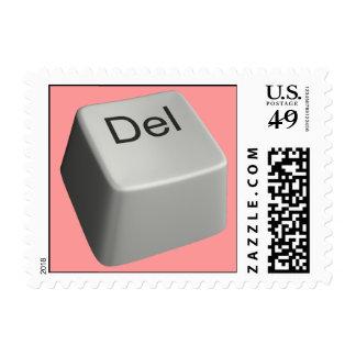 Big delete key stamp