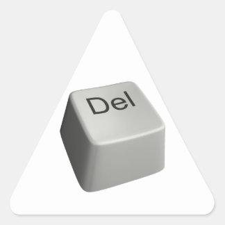 Big delete key triangle sticker