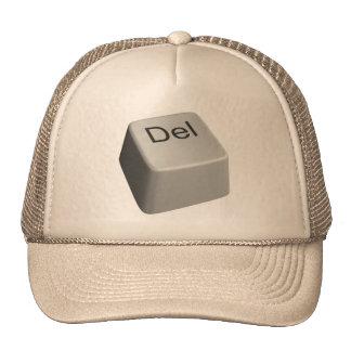 Big delete key trucker hat