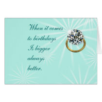 Big Diamond Card for any occasion- customize