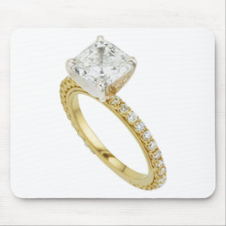 Big Diamond Engagement Ring Hint Hint Mouse Pads