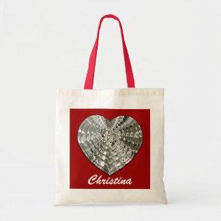 Big Diamond Heart Personal Tote Bag