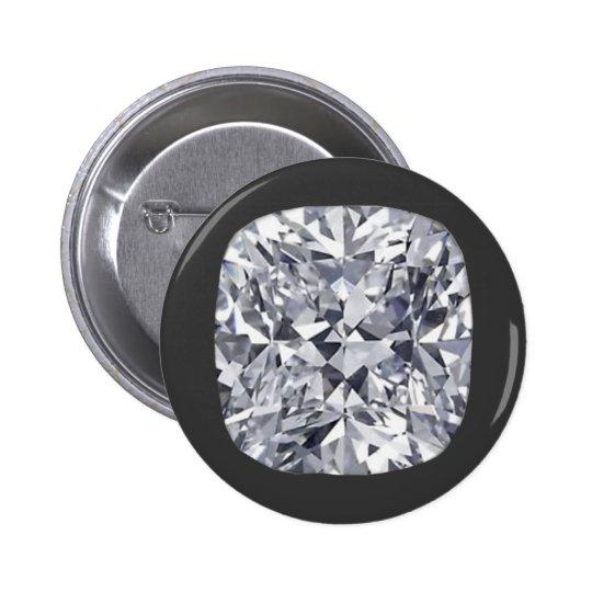 Big diamond pinback button