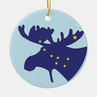 Big Dipper Moose Ceramic Ornament