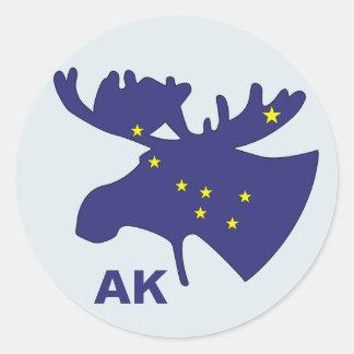 Big Dipper Moose Classic Round Sticker