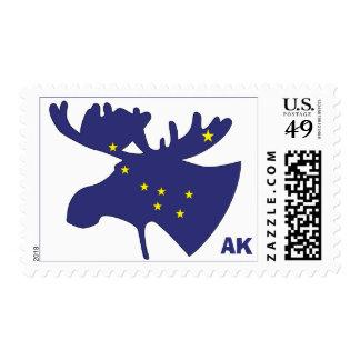Big Dipper Moose Postage Stamp