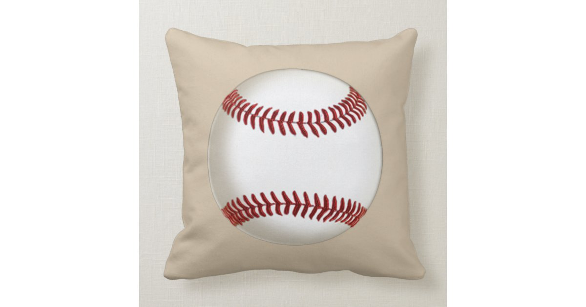 Throw Pillows With Numbers : Big Dirty Baseball Throw Pillow MONOGRAM or NUMBER Zazzle