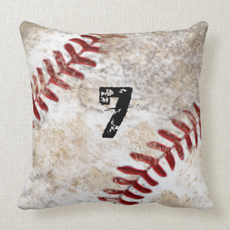Big Dirty Baseball Throw Pillow MONOGRAM or NUMBER