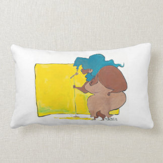 big diva in a small club lumbar pillow
