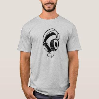 big dj headphones t-shirt