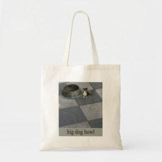 big dog bowl  tote tote bag