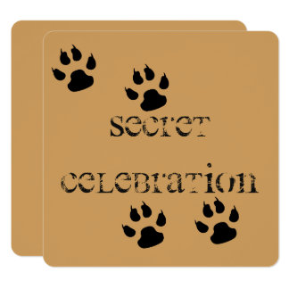 Big Dog Footprints Card