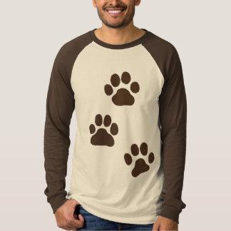 Big Dog Paw Prints Tee Shirt