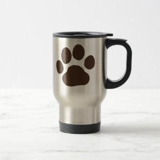 Big Dog Paw Prints Travel Mug