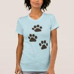 Big Dog Paw Prints Tshirt