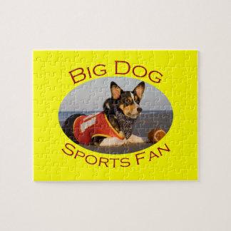 Big Dog, Sports Fan Jigsaw Puzzles