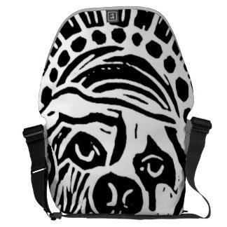 Big Doggie Bag Black and White Dog Messenger Bag