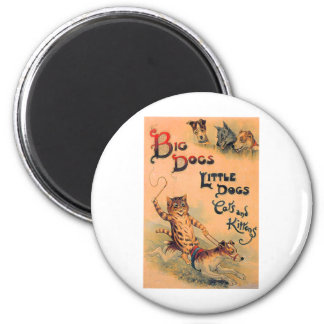 Big Dogs Little Dogs 2 Inch Round Magnet