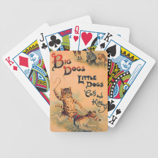 Big Dogs Little Dogs Bicycle Playing Cards