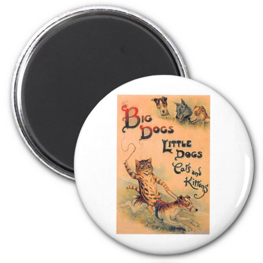 Big Dogs Little Dogs Magnet