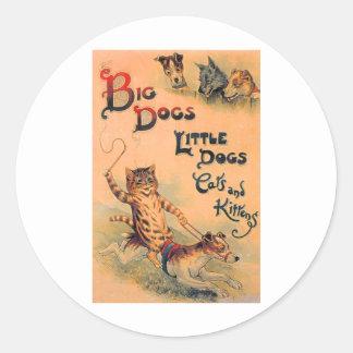 Big Dogs Little Dogs Sticker