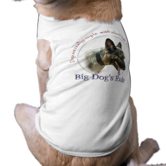 Big Dogs Rule Ribbed Tank Top