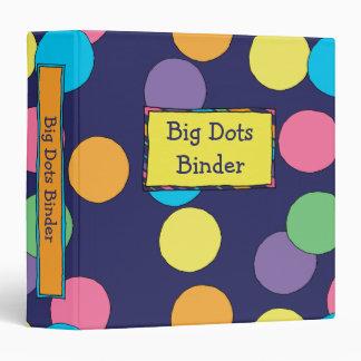 "Big Dots 1.5"" Binder"