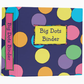 "Big Dots 2"" Binder"