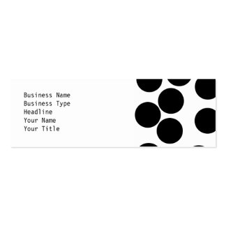 Big Dots. Black and White Pattern. Business Card Template