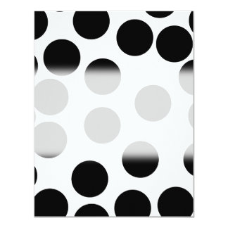 Big Dots. Black and White Pattern. Card