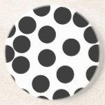 Big Dots. Black and White Pattern. Coaster