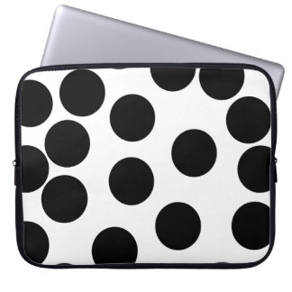 Big Dots. Black and White Pattern. Computer Sleeve