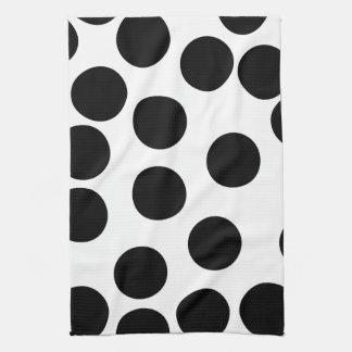 Big Dots. Black and White Pattern. Hand Towel