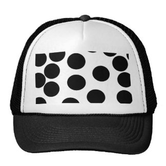 Big Dots. Black and White Pattern. Trucker Hats