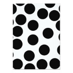 Big Dots. Black and White Pattern. Invitations
