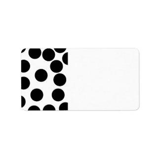 Big Dots. Black and White Pattern. Custom Address Labels