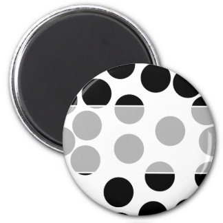 Big Dots. Black and White Pattern. Magnet