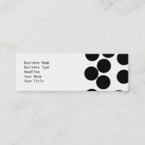 Big Dots. Black and White Pattern. Mini Business Card